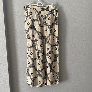 H&M Wide-leg Floral Culottes Pants